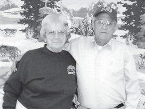 LEPRECHAUNS -  Lennon and Yvonne Hammock were named Mr. and Mrs. Leprechaun at the Ermine Senior Citizens Center.