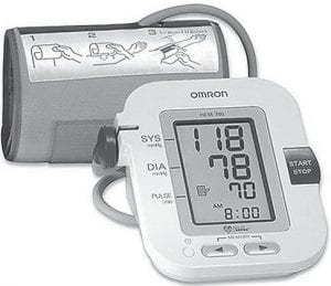 Home blood pressure monitors like this one from Omron are available at most pharmacies and many retail stores.