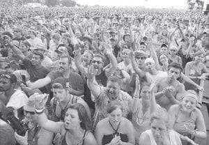 Fans of all ages cheered during a B.B. King concert at the Bonnaroo music festival in Manchester, Tenn., on June 14. (AP Photo/Mark Humphrey)