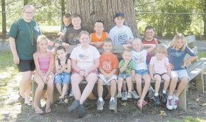 Campers Pictured are participants in the WildWoods Nature Camp, held at the Hemphill Community Center, (back row, left to right) Hannah Thompson, Kannan Johnson, Colton Riffe, Dakota Welch, Ethan Davis, Cody Hampton, (front row) Taylor Collier, Jayden Sturgill, Alicia Meade, Drew Richardson, Coby Johnson, Dedria Holbrook, Allison Breeding, and Megan Smith.
