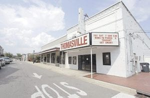 A movie theater in Thomasville, Ala., is seen in this photo. Residents in once-sleepy Thomasville have started complaining about traffic coming from shoppers, squeezed by $4-per-gallon gas, who are staying closer to home instead of driving 100 miles each way to the nearest malls in Mobile or Montgomery. (AP Photo)