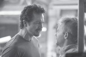 Benjamin Bratt (left) stars as William Banks and Esteban Powell stars as Arnie Swenton in the A&E Original Series