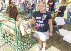 Brianne Sexton, 6, enjoyed petting a goat.