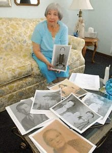 Nancy Sparks Morrison holds a photo of her greatgreat grandmother, Mary Collins, born in 1843. Morrison's genealogy research about her Melungeon heritage helped her discover she had familial Mediterranean fever, even when doctors doubted her. (Photo by Lawrence Pierce/ Charleston Gazette)