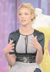 Emmy-winning actress Katherine Heigl has taken heat for her blunt public comments and doesn't seem to care. (AP photo)