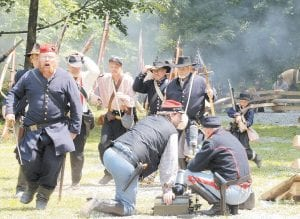 Union soldiers retreated as part of their