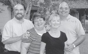 WATKINS FAMILY — Pictured are Wayne, Paula, Janie and Ben, children of former Marlowe resident Anna Watkins, now living in Woodville, Fla.