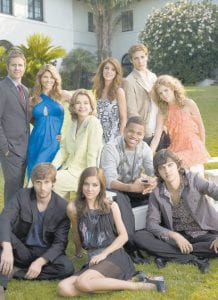The cast from