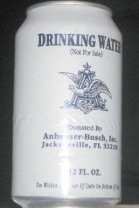 Beer maker Anheuser-Busch donated 40,000 cans of drinking water to Letcher County during last week's crisis.