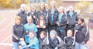 Members of the girls' cross-country team are (back row, left to right) Talena Taylor, L.C. Williams, Tara Combs, Nicole Banks, Kelsey Mullins, Carley Caudill, (middle row) Sally Hubbard, Micca Boggs, Cassie Whitaker, (front row) Chloe Wynn, Kayla Burton, Shannon Bayes and Sidney Mullins.