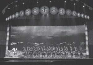 The Radio City Rockettes were photographed rehearsing in Cincinnati for the Radio City Christmas Spectacular, a 60-day tour that will include 18 sports arenas around the U.S. (AP Photo)