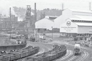 This is part of United States Steel Corp's. Edgar Thomson Works in Braddock, Pa. Pittsburgh based United States Steel Corp., which posted record profits for the three months ended in September, said it was laying off 675 workers in the U.S. and Canada due to weaker demand amid the economic downturn. (AP Photo/Gene J. Puskar)