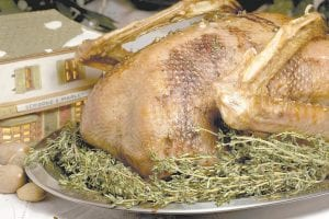 A Peppercorn-and-Thyme-Roasted Goose was often the main course when Charles Dickens and his wfe entertained. (AP)