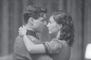 Tom Cruise portrays Claus von Stauffenberg, left, and Carice Van Houten portrays his wife, Nina, in