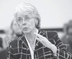 State Auditor Crit Luallen, whose financial reviews have been stinging for some local-level politicians, said in mid-December that she will decide before spring whether to challenge U.S. Sen. Jim Bunning in 2010. (AP Photo/Ed Reinke)