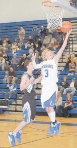 HOT HAND — Letcher Central's Josh Profitt was nearly unstoppable against June Buchanan. (Photo by Chris Anderson)
