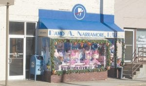 The display was located in front of Narramore Dentistry.