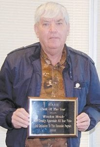Pictured to the left is Meade, who was named 2008 clerk of the year for the H.A.V.E. program.
