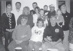 PENNINGTON FAMILY — This is the family of Bob Pennington and the late Della (Howard) Pennington. Pictured are their children, James Pennington, David Pennington, and Kim (Pennington) Lucas, and all their families.