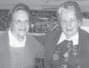 QUILTERS — Ella Mae Fugate (left) and Ruby Caudill are original members of the Carcassonne Quilting Club, which began July 14, 1966.