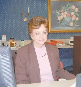 Irene Banks graduated college believing she would be a school teacher for the rest of her working life. After finding school jobs hard to come by, she decided to go to work for the former First Security Bank in downtown Whitesburg and remained there until she retired last week. (Eagle photo)