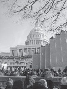 The view from our seat on the west side of the U.S. Capitol.