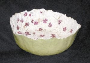 Pictured above is a bowl made by artist Luann Vermillon of Whitesburg. Vermillion's work will be on display this week at a show in Louisville at the Kentucky Fair and Exposition Center