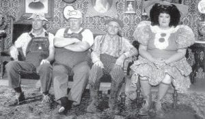 Lulu Roman, right, is still known for her skits with fellow 'Culhane Family' members, from left, Gordie Tapp, Junior Samples and Grandpa Jones on the long-running comedy show 'Hee Haw.'