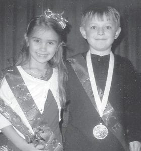 VALENTINE ROYALTY — Emily Grace Caudill and Zack Hensley were crowned Valentine Princess and Prince of the first grade at West Whitesburg Elementary School. She is the six-year-old daughter of David