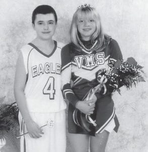 VARSITY COURT — Tanner Johnson and Erin Staley were crowned Duke and Duchess of the sixth-grade class at Virgie Middle School. He is the son of Tracy and Tina Johnson of Virgie, and the grandson of Leonard and Norma Fleming of Kona and Lewis Johnson of Virgie and the late Elva Johnson. She is the daughter of Bryan and Kim Staley of Robinson Creek.