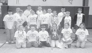 TOP ARCHERS — The Fleming-Neon Elementary School archery team won top honors at the recent Winter Shootout in Perry County. Pictured are (front, left to right) Samara Adams, Tyler Holbrook, Corey Houston, Lindsey Bentley, Taylor Collier, Sierra Hall, (second row) Tyler Delong, Cody Hampton, Caitlyn Estevaz, Makaley Johnson, Danielle Sturgill, Colten Fields, Channing Richardson, (third row) C.J. Phillips Clayton Johnson, Jeremy Meade, Stephen Fox, and Mike Hall.