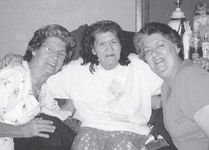 SISTERS — Posing together are three Pennington sisters, Dorthy Tacket, Maizie Adams, and Linda Hall.