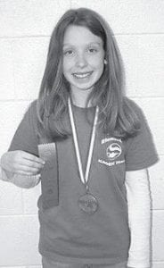 EMILY JOHNSON, daughter of Mark and Cathy Johnson of Jenkins, recently competed in the Regional Governor's Cup competition at Letcher Elementary School. She placed fourth in language arts. She is a student at the Burdine Campus of Jenkins Elementary School.