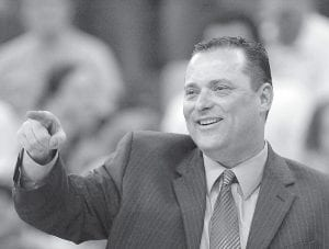 Kentucky head coach Billy Gillispie instructed his players against Creighton during the second half of a secondround men's NIT college basketball tournament game in Omaha, Neb. Kentucky beat Creighton 65-63. (AP Photo)
