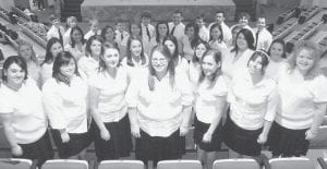 THE VOICES OF APPALACHIA will perform at 11 a.m., Sunday, March 29, at Graham Memorial Presbyterian Church in Whitesburg. The community is invited. The group of 36 students from Alice Lloyd College has performed on
