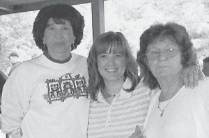 REUNION — (Left to right) Jenetta Howard, wife of the late Eddie Howard; Tabatha (Hatton) Spencer; and Louise (Howard) Spencer are pictured at the 2008 Howard family reunion.