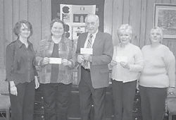 UNITED WAY — Pictured are (left to right) Sherry Sexton, Geraldine McDonald of the Letcher County Food Pantry, Elwood Cornett of the Letcher County Public Schools Education Foundation, and Phyllis Baker and Brenda Adams of Letcher County CARES. Sherry Sexton is a Letcher County board member of the United Way of Southeastern Kentucky, which donated funds to the agencies.
