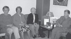 CANCER SCREENING — A group of women from Letcher County went to the University of Kentucky Medical Center recently for ovarian cancer screening. The trip is sponsored annually by the Homemakers Club of the Letcher County Extension Service. Pictured are Pearl Noble, Dorothy Tacket, Josephine Breeding, and Lorraine Kuracka.