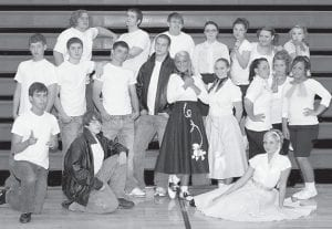 'GREASE' — Working on the Letcher County Central High School Drama Club production of