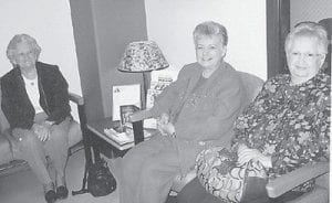 CANCER SCREENING — Among the women from Letcher County who went to the University of Kentucky Medical Center last month for ovarian cancer screening were Josephine Breeding, Lorraine Kuracka, and Ester Wagner. The trip is sponsored annually by the Homemakers Club of the Letcher County Extension Service.