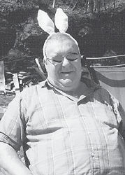 EASTER BUNNY — The Easter Bunny visited Johnson Fork at Premium in the form of Barefoot Bill Kelly.