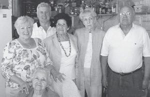 BIRTHDAY — Owen Amburgey celebrated his 81st birthday with his family at the home of his daughter, Kim Combs. Pictured with him are his wife, Emma; his sisters, Cleada Caudill, Sally Hampton, and Ila Hall; and his brother, Neweral Amburgey.