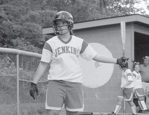 Brooke Webb led the way for Jenkins in the district championship game by slamming a homerun in the second inning. Webb was also named to the All-District team. The Lady Cavaliers advanced to the 14th Regional Tournament last night (Tuesday) to face Leslie County. (Photo by Chris Anderson)