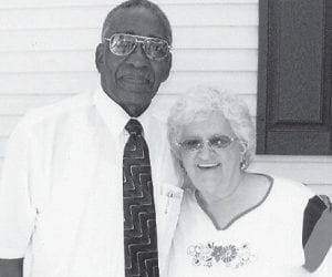 BIRTHDAY — Bishop Willie Lamb Sr. recently celebrated his 85th birthday. He is pictured with Lillie Mullins.