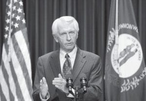 Gov. Steve Beshear announced his decision to add expanded gambling legislation to the upcoming special session during a news conference in Frankfort last week. Beshear released more details about his new gambling plan on June 9. (AP Photo/Ed Reinke)
