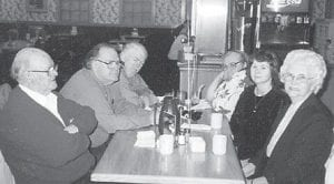 ENGLE FAMILY — Pictured are (front to back) Lorain, Ohio correspondent Emma Lou Engle and her husband, Red, along with their sons and daughters-in-law, Billy Wayne and Laredia