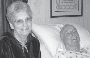 HOSPICE — The family of the late Ben Blair Jr., pictured with his wife, Mattie Caudill Blair, was assisted by Hospice of the Bluegrass - Mountain Community when he was dying. The help given by hospice allowed him to be cared for at home.