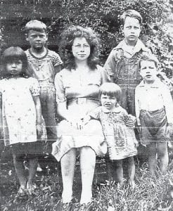 BROWN FAMILY — The children of the late Dewey and Martha Brown from Marlowe Coal Camp are pictured in the 1940s. They are Ruth (deceased), Ralph, Roberta, Russell, Robert, and Rosa Lee. Photo courtesy of Jim Cornett of Burnside.
