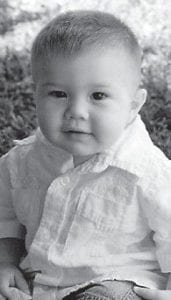 FIRST BIRTHDAY — Davin Michael Ratliff turned one year old on June 24. He is the son of Shaun and Codi Ratliff of Blackey. His grandparents are Darlene Spears of Blackey, Richard and Sherry Ratliff of Kingscreek, and Debbie and Randy Caudill of Jeremiah. He is the greatgrandson of Junior and Alice Adams of Blackey, the late Junior and Gerldine Combs of Isom, and the late Lulla and Charlie Ratliff of Kingscreek.