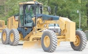 The Letcher Fiscal Court voted to pay $168,267 for this road grader photographed at the Mayking highway garage.